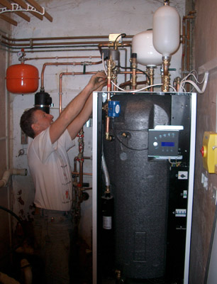 plumping in the heat pump